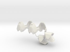 1:6 Scale Knee armor 2 Pair, Shoulder 1 pair in White Natural Versatile Plastic