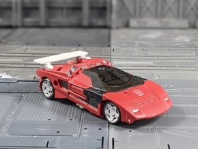 TF Seige Sideswipe Spoiler with 5mm ports in White Natural Versatile Plastic