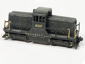 Z Scale 44 Tonner Locomotive in Natural Brass