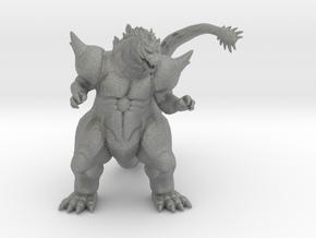 Super Godzilla 66mm kaiju monster miniature model in Gray PA12