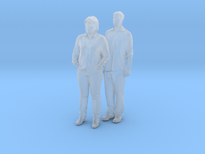 Printle C Couple 197 - 1/87 - wob in Smooth Fine Detail Plastic