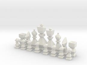 Low-poly chess  in White Natural Versatile Plastic