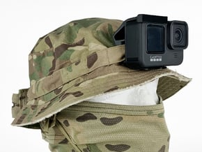 Boonie Hat Mount (GoPro Hero 9/10 Compatible) in Black PA12