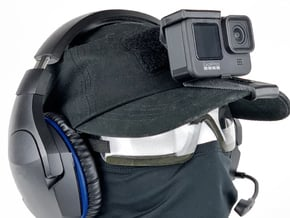 Hat Mount (GoPro Hero 9/10 Compatible) in Black PA12