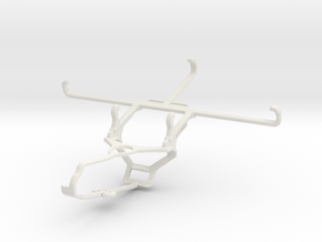 Controller mount for Steam & TECNO Spark 6 - Front in White Natural Versatile Plastic