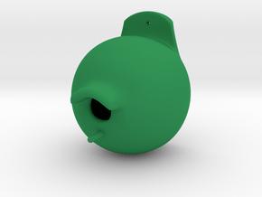 Cosy Birdhouse in Green Processed Versatile Plastic