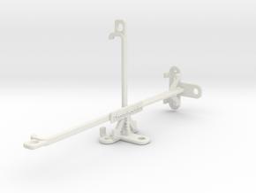 TECNO Spark 6 tripod & stabilizer mount in White Natural Versatile Plastic