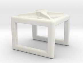 Pinch Cage v2 in White Natural Versatile Plastic