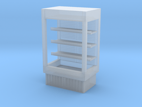 Grocery Fridge 01. 1:43 Scale  in Smooth Fine Detail Plastic