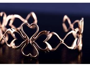 Swan-Heart Bracelet in Polished Bronze