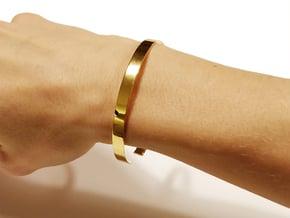Armbånd Kreds (Danish = Bracelet circle) in Polished Brass