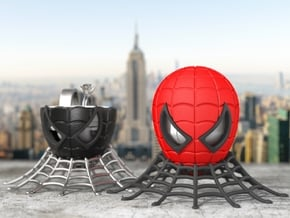 Spider Geek Ring Box - For Engagement or Proposal in Red Processed Versatile Plastic