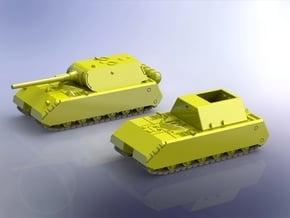 Porsche Type 205 Maus Super Heavy Tank 1/200 in Smooth Fine Detail Plastic
