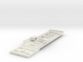 5-Achs Tieflader Rahmen V1 / 5-axle low bed frame in White Natural Versatile Plastic