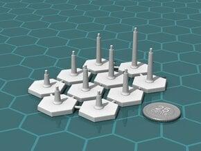 FlightStands - Set of 10. in Gray PA12