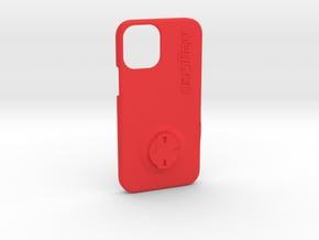 iPhone 12 Mini Wahoo Mount Case in Red Processed Versatile Plastic
