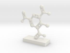 TNT Molecule Display in White Natural Versatile Plastic