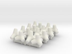 Concrete Tetrapod (x16) 1/100 in White Natural Versatile Plastic