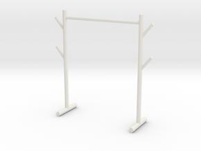 Clothes storage rack in White Natural Versatile Plastic