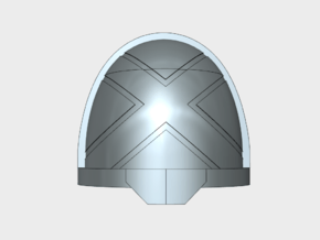 10x Crisscross - G:11a Shoulders pads in Smooth Fine Detail Plastic