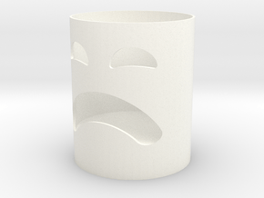 Ghost style candlestick in White Processed Versatile Plastic