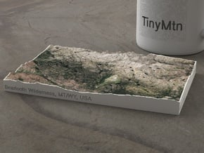 Beartooth Mtns, Montana/Wyoming, USA, 1:250000 in Natural Full Color Sandstone