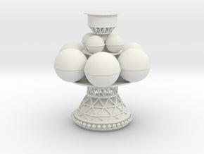 Daedalus Spaceship in White Natural Versatile Plastic