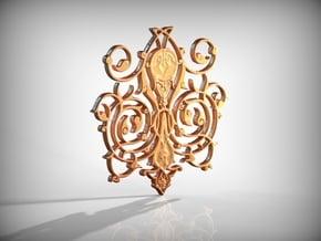 Swirl Pendant in Polished Gold Steel
