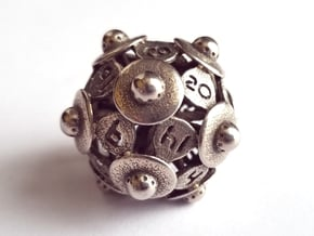 D20 Balanced - UFO in Polished Bronzed-Silver Steel