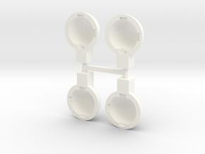 tth001-01 Tyco Turbo Hopper Aux. Lamp Housing in White Processed Versatile Plastic