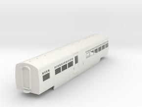 0-87-lms-artic-railcar-centre-coach1 in White Natural Versatile Plastic