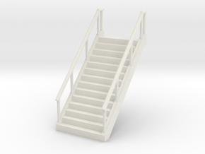 Stairs (wide) 1/87 in White Natural Versatile Plastic