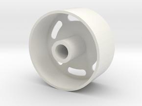 Retro Style in White Natural Versatile Plastic: Medium