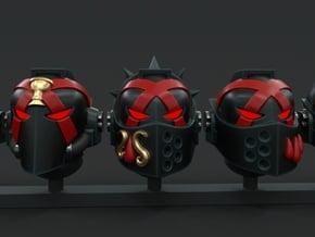 10-20x Sanguine Angel Death Team Helmets Variety  in Smooth Fine Detail Plastic: Medium