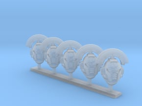5x Lamented Heart - Crested G:10 Prime Helmets in Smooth Fine Detail Plastic