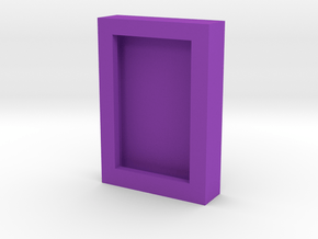 Obsidian Door Photo Frame in Purple Processed Versatile Plastic