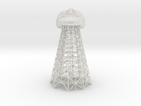 Tesla Tower 13 In in White Natural Versatile Plastic