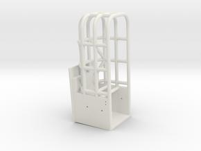 Custom Straight side Rollcage in White Natural Versatile Plastic