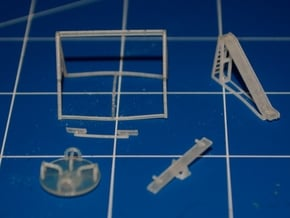 N-Scale Playground Equipment in Smooth Fine Detail Plastic