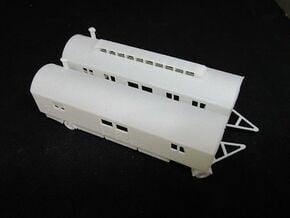 1/144 Luftwaffe trailer for pilots in White Natural Versatile Plastic