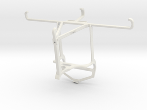 Controller mount for PS4 & TECNO Spark 6 - Top in White Natural Versatile Plastic