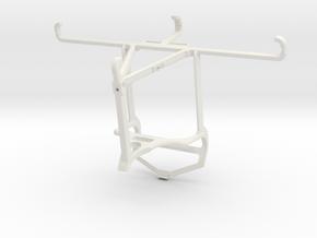 Controller mount for PS4 & Tecno Spark 6 Go - Top in White Natural Versatile Plastic