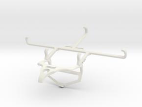 Controller mount for PS4 & Tecno Spark 6 Go - Fron in White Natural Versatile Plastic