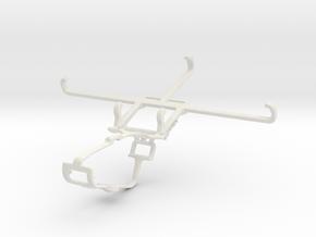 Controller mount for Xbox One & Tecno Spark 6 Go in White Natural Versatile Plastic