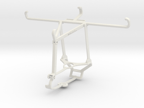 Controller mount for Steam & TECNO Spark 6 - Top in White Natural Versatile Plastic