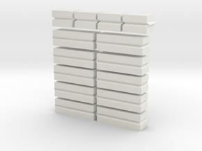 1/64th/S Scale Concrete blocks in White Natural Versatile Plastic