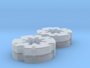 Radgewichte Weise Toys Fendt 615 Doppelt in Smooth Fine Detail Plastic