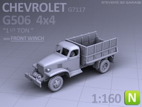 Chevrolet G506 4x4 Truck (front-winch) - (N scale) in Smooth Fine Detail Plastic