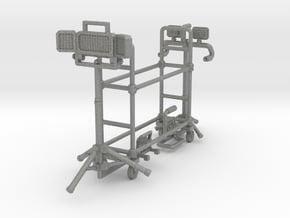 1/64 4x work lights & tire rack in Gray PA12