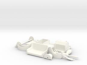 Brush model D Runabout 1910 1/24 in White Processed Versatile Plastic